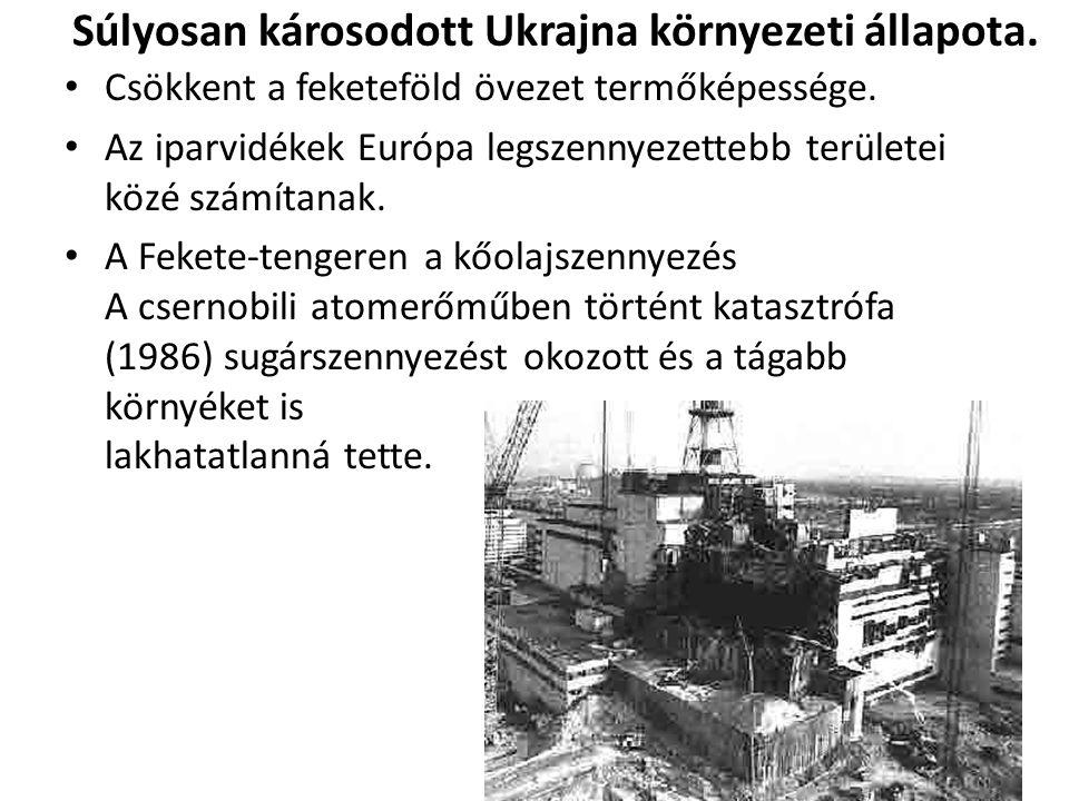 Súlyosan károsodott Ukrajna környezeti állapota.