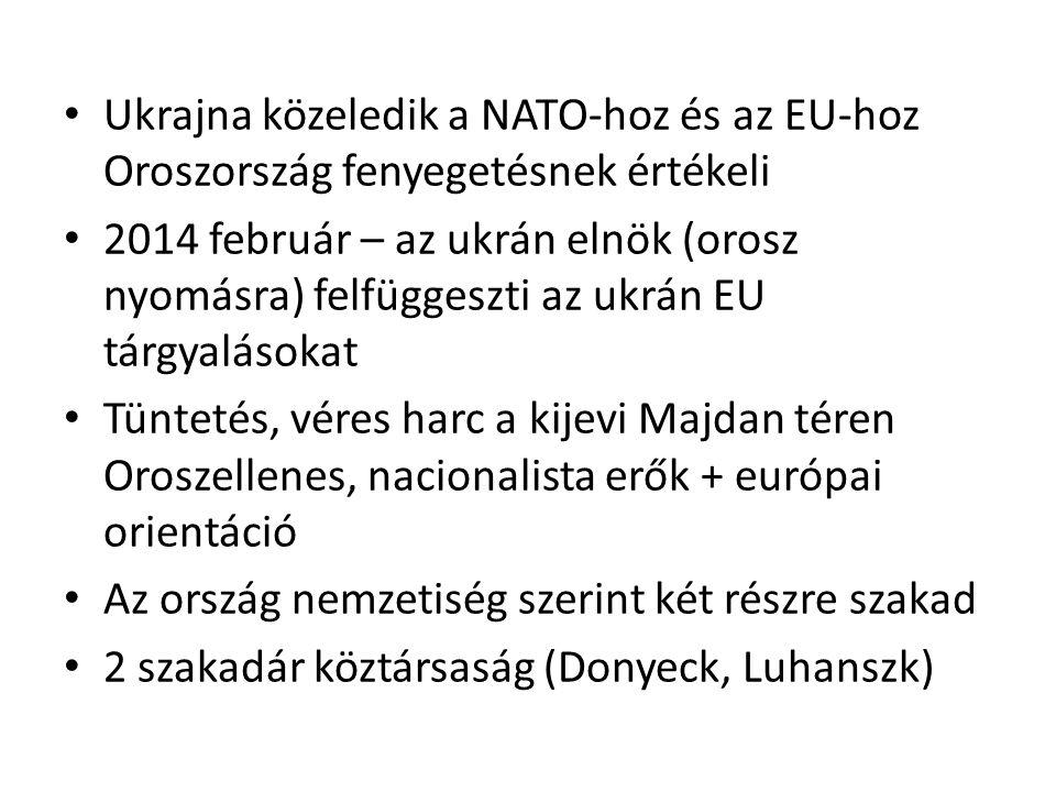 Ukrajna közeledik a NATO-hoz és az EU-hoz Oroszország fenyegetésnek értékeli