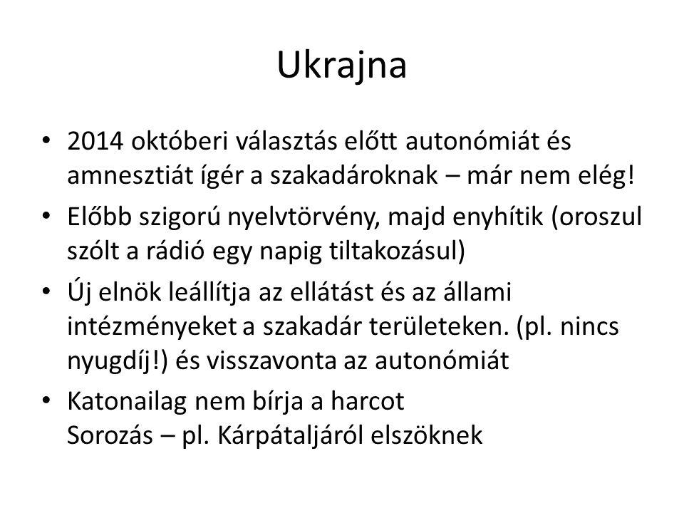 Ukrajna 2014 októberi választás előtt autonómiát és amnesztiát ígér a szakadároknak – már nem elég!