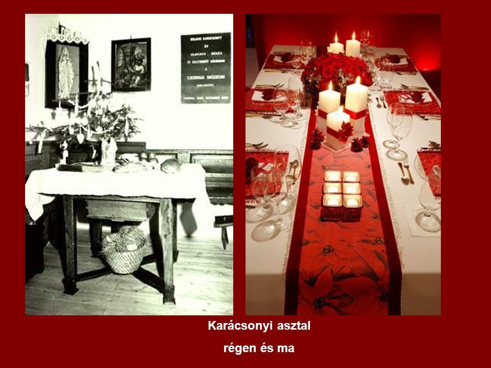 Karácsonyi asztal régen és ma