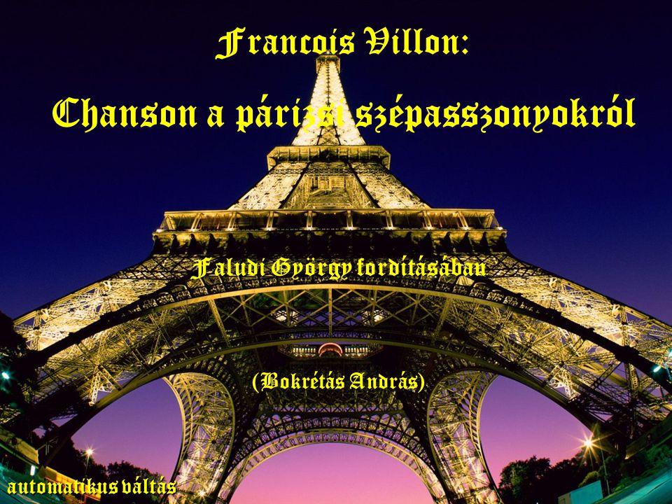 Chanson a párizsi szépasszonyokról Faludi György fordításában