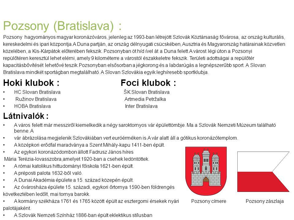 Pozsony (Bratislava) :
