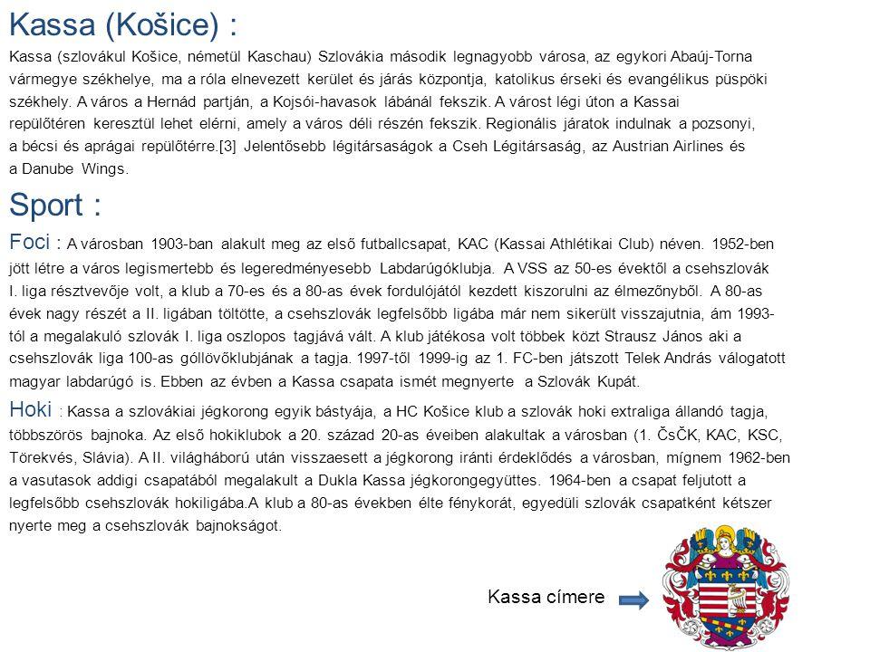 Kassa (Košice) : Sport :