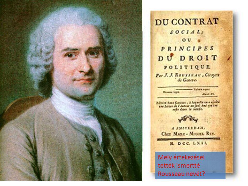 Mely értekezései tették ismertté Rousseau nevét