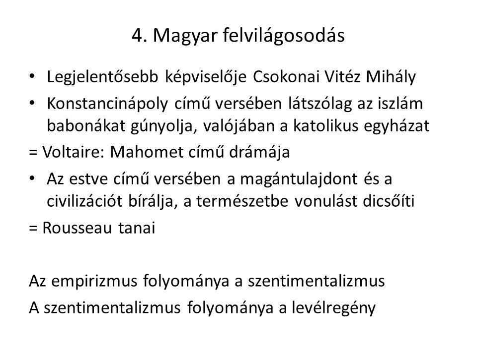 4. Magyar felvilágosodás