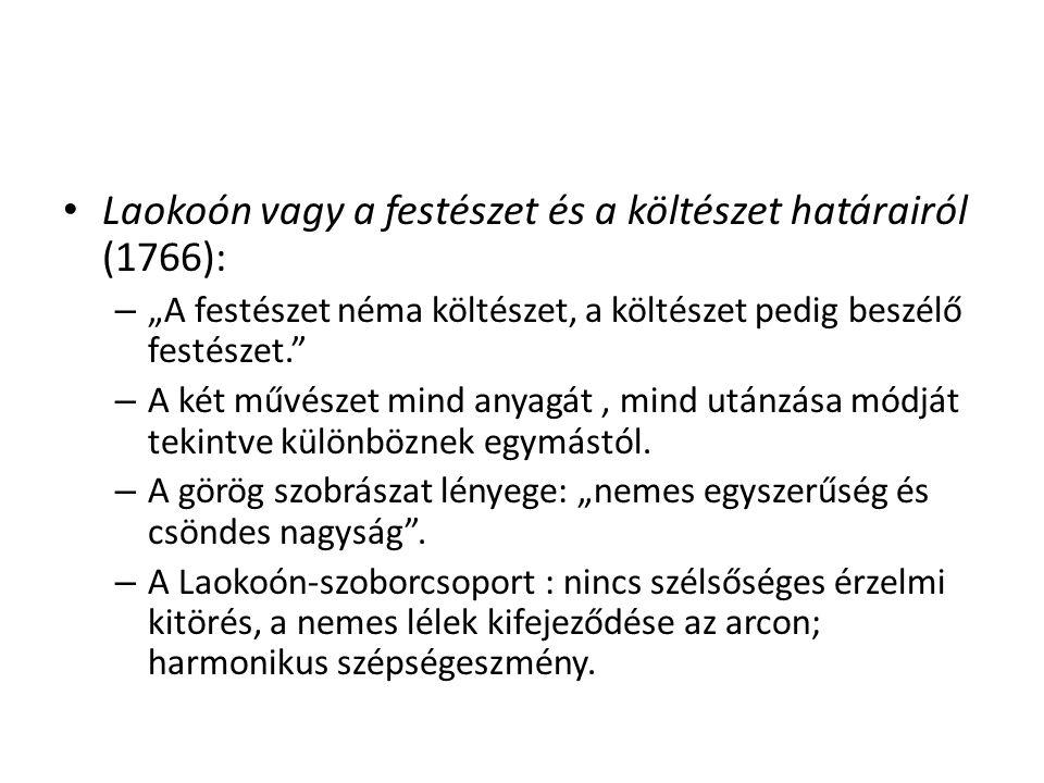 Laokoón vagy a festészet és a költészet határairól (1766):