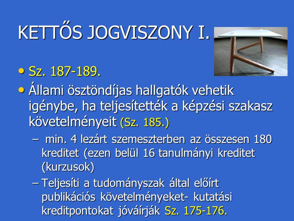 KETTŐS JOGVISZONY I. Sz. 187-189.