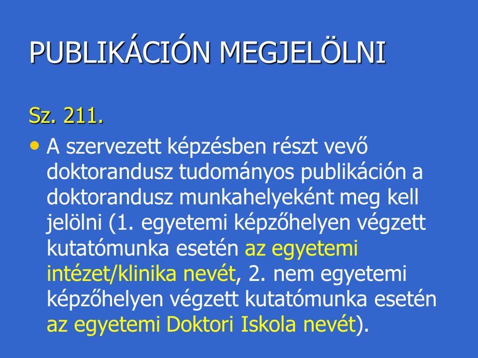 PUBLIKÁCIÓN MEGJELÖLNI
