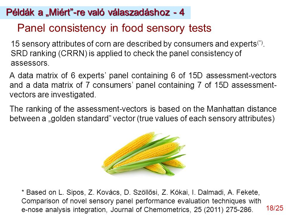 Panel consistency in food sensory tests
