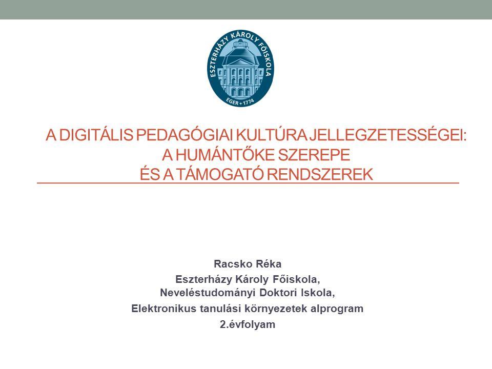 A digitális pedagógiai kultúra jellegzetességei: a humántőke szerepe és a támogató rendszerek