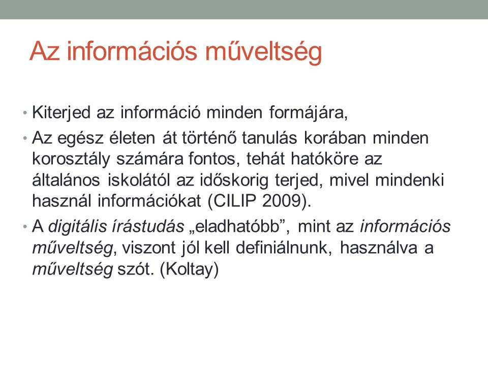 Az információs műveltség