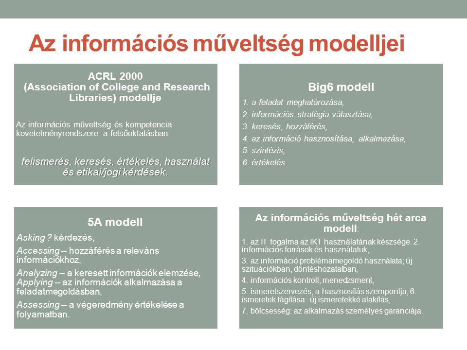 Az információs műveltség modelljei