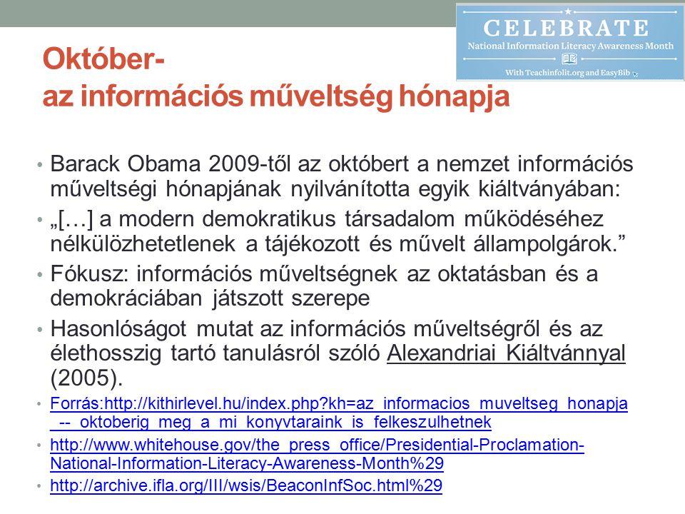 Október- az információs műveltség hónapja