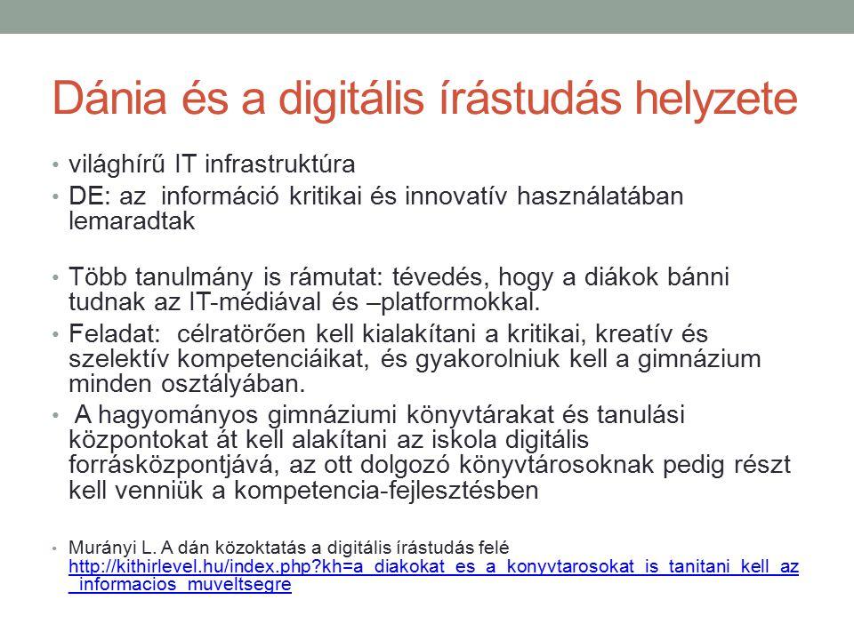 Dánia és a digitális írástudás helyzete