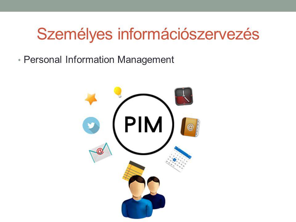Személyes információszervezés