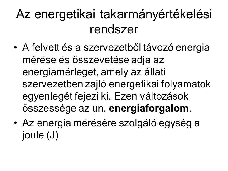 Az energetikai takarmányértékelési rendszer