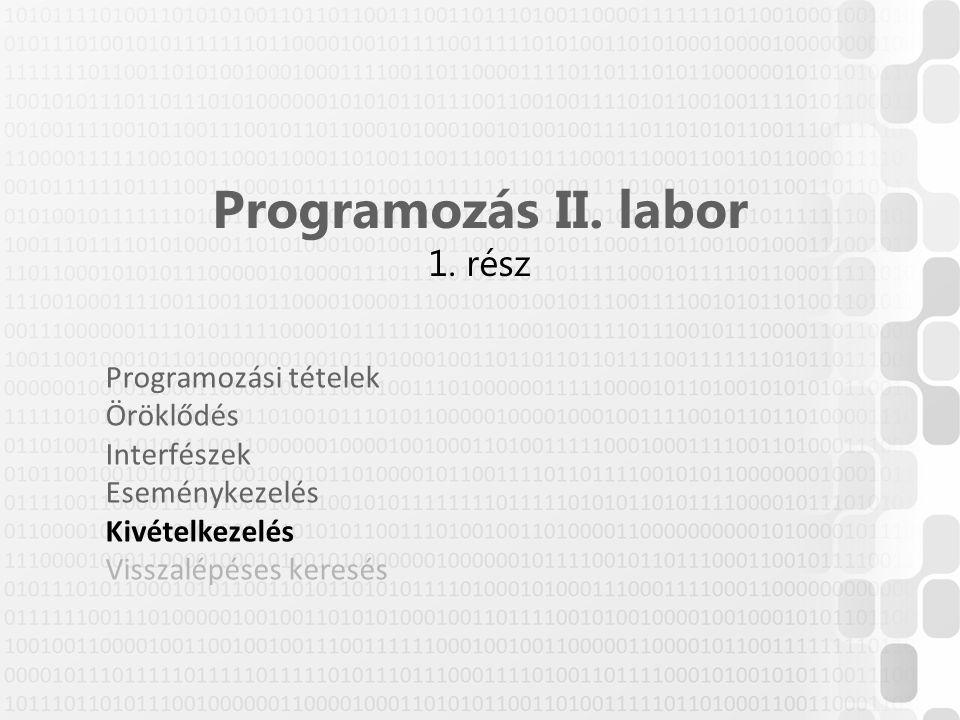 Programozás II. labor 1. rész