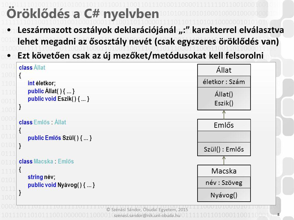 Öröklődés a C# nyelvben