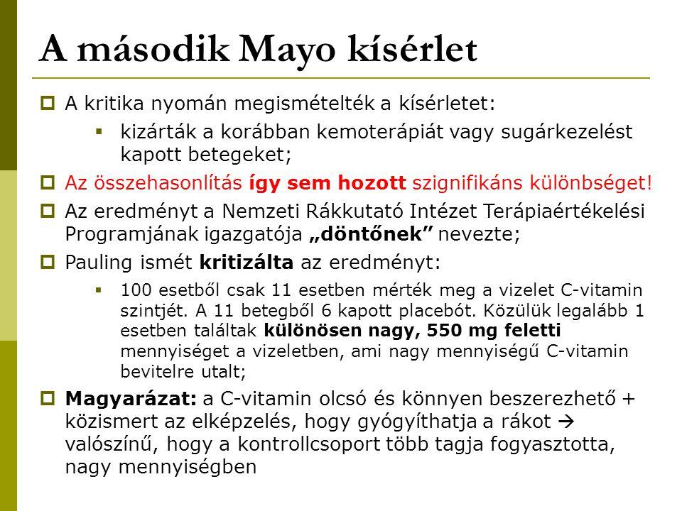 A második Mayo kísérlet
