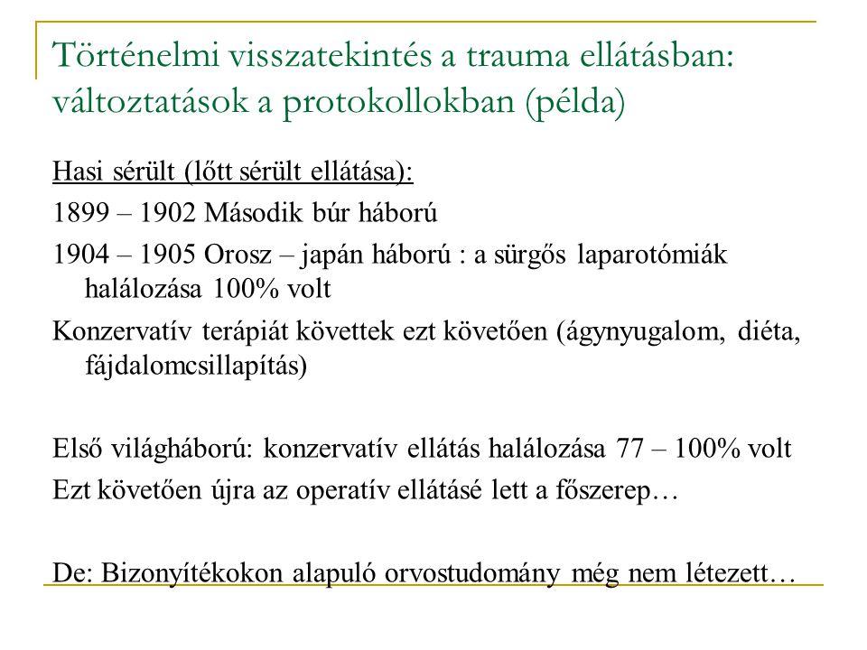 Történelmi visszatekintés a trauma ellátásban: változtatások a protokollokban (példa)