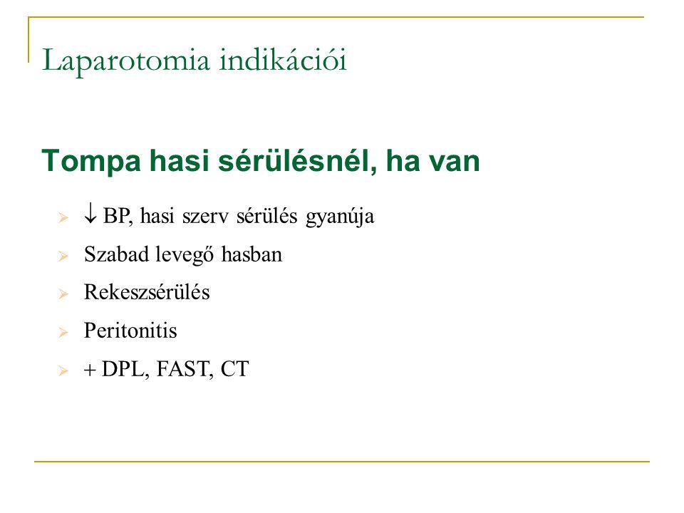 Laparotomia indikációi