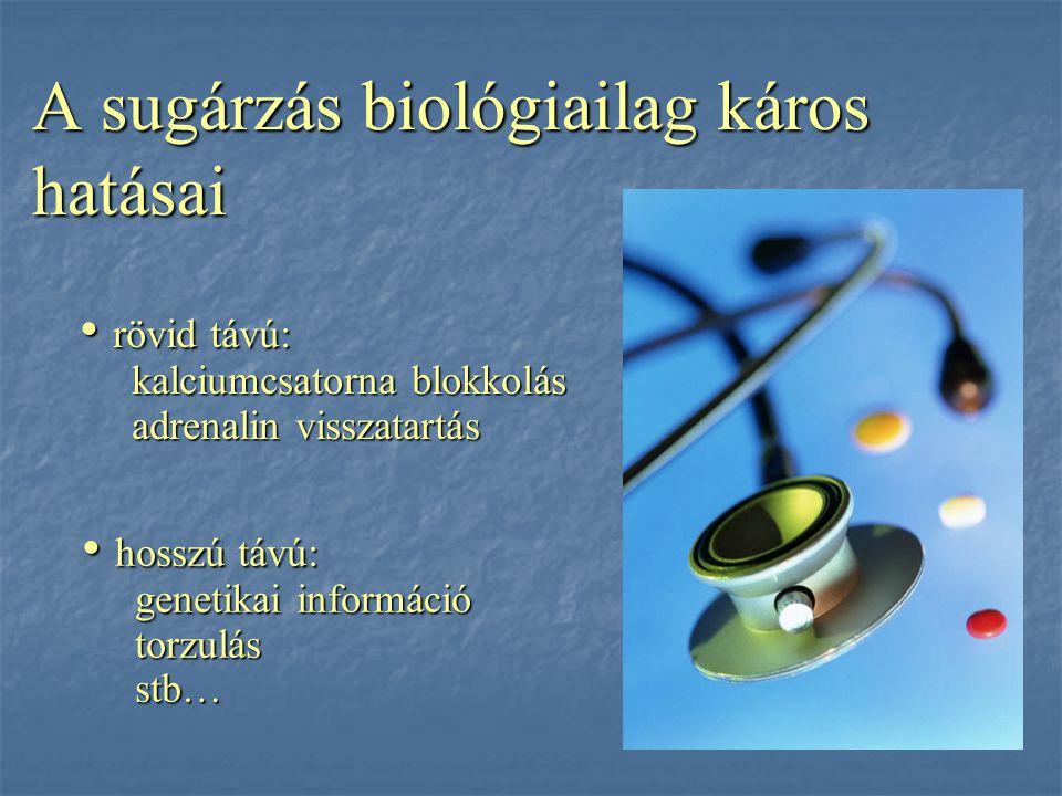 A sugárzás biológiailag káros hatásai