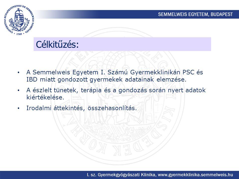 Célkitűzés: A Semmelweis Egyetem I. Számú Gyermekklinikán PSC és IBD miatt gondozott gyermekek adatainak elemzése.