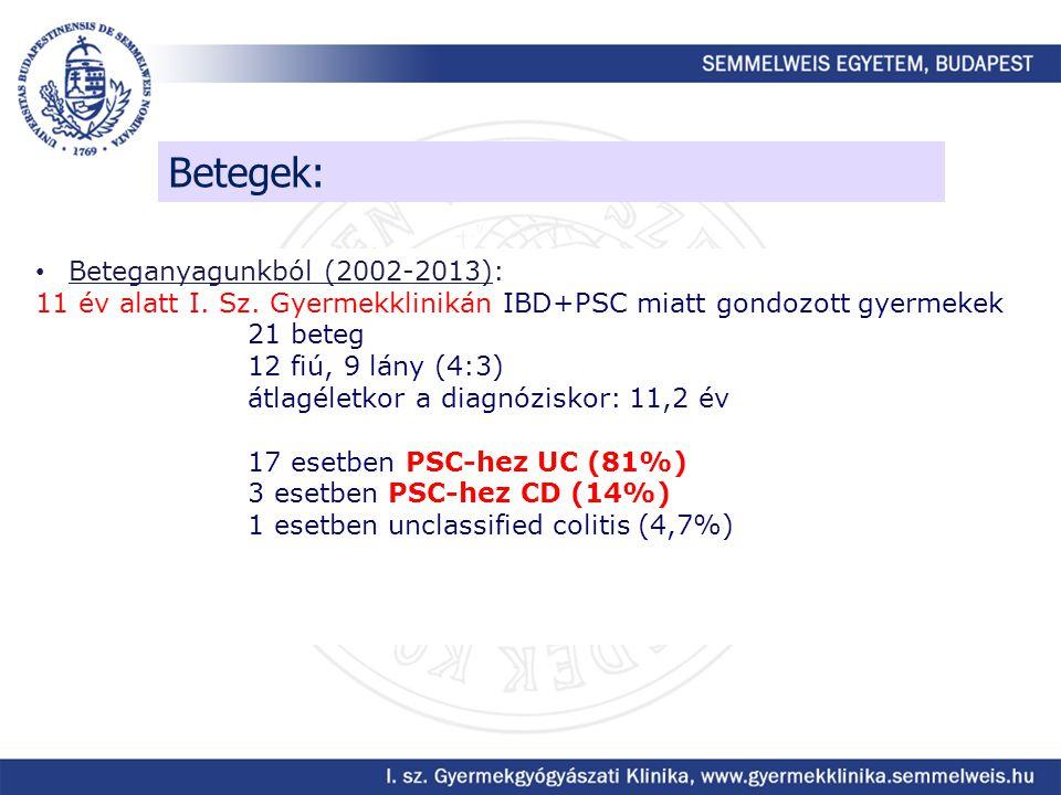 Betegek: Beteganyagunkból (2002-2013):