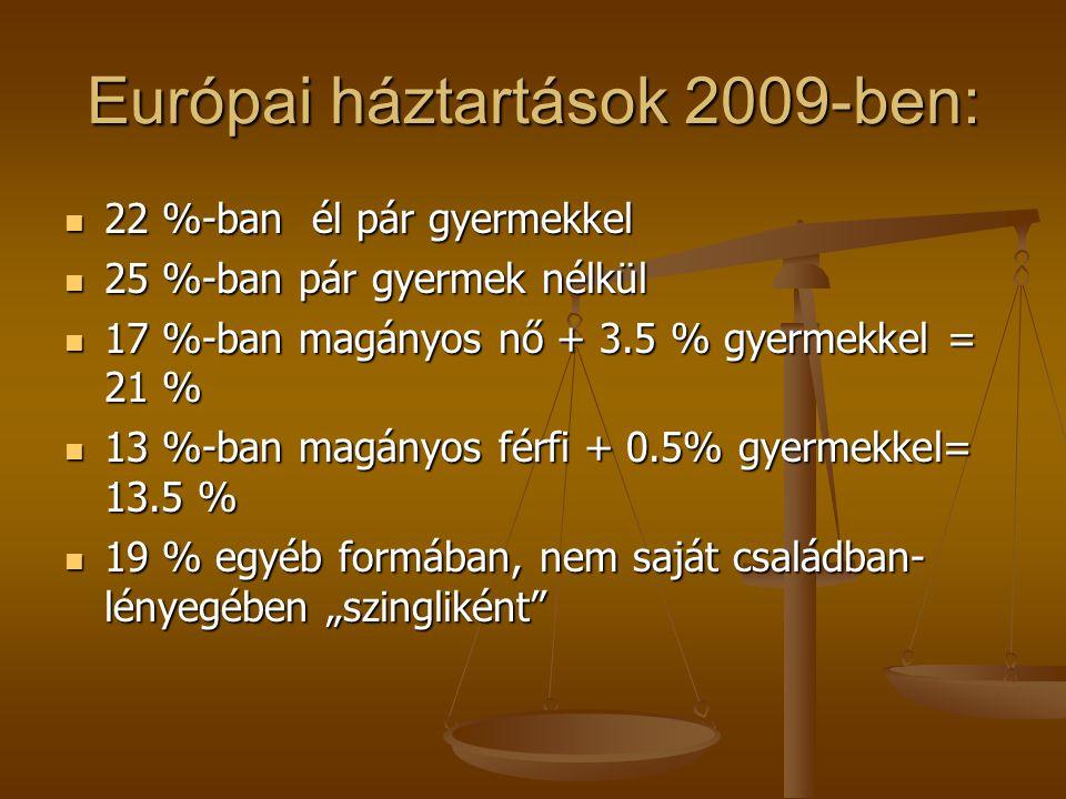 Európai háztartások 2009-ben: