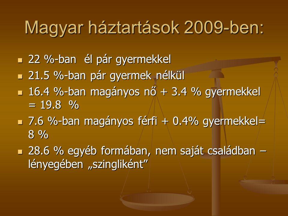 Magyar háztartások 2009-ben: