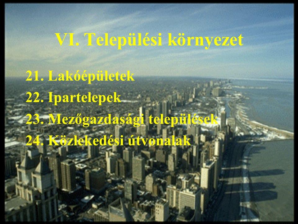 VI. Települési környezet