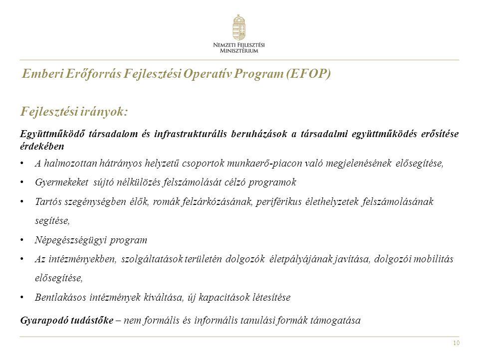 Emberi Erőforrás Fejlesztési Operatív Program (EFOP)