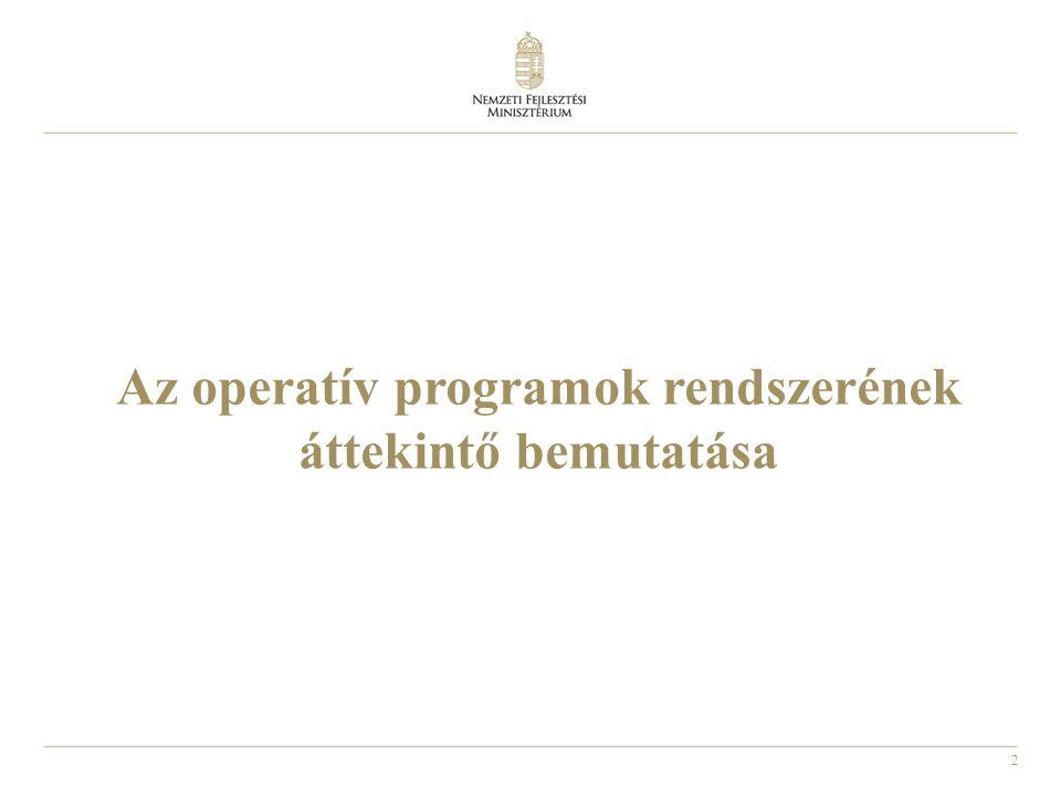 Az operatív programok rendszerének áttekintő bemutatása