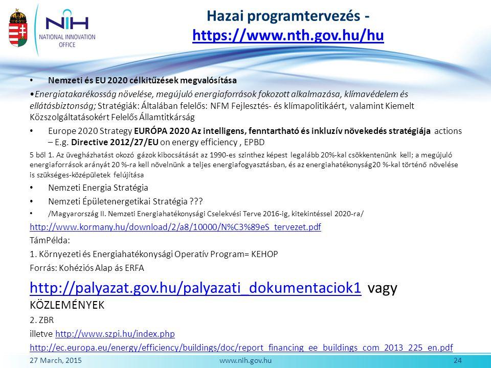 Hazai programtervezés -https://www.nth.gov.hu/hu