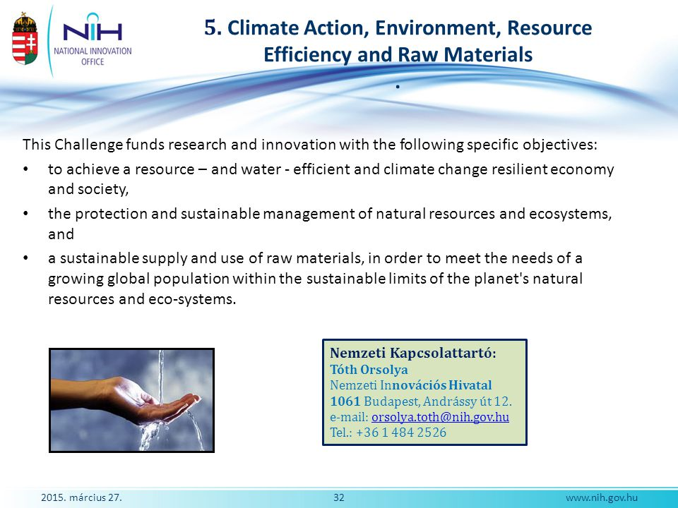 5. Climate Action, Environment, Resource Efficiency and Raw Materials .