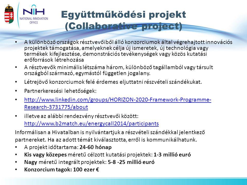 Együttműködési projekt (Collaborative project)
