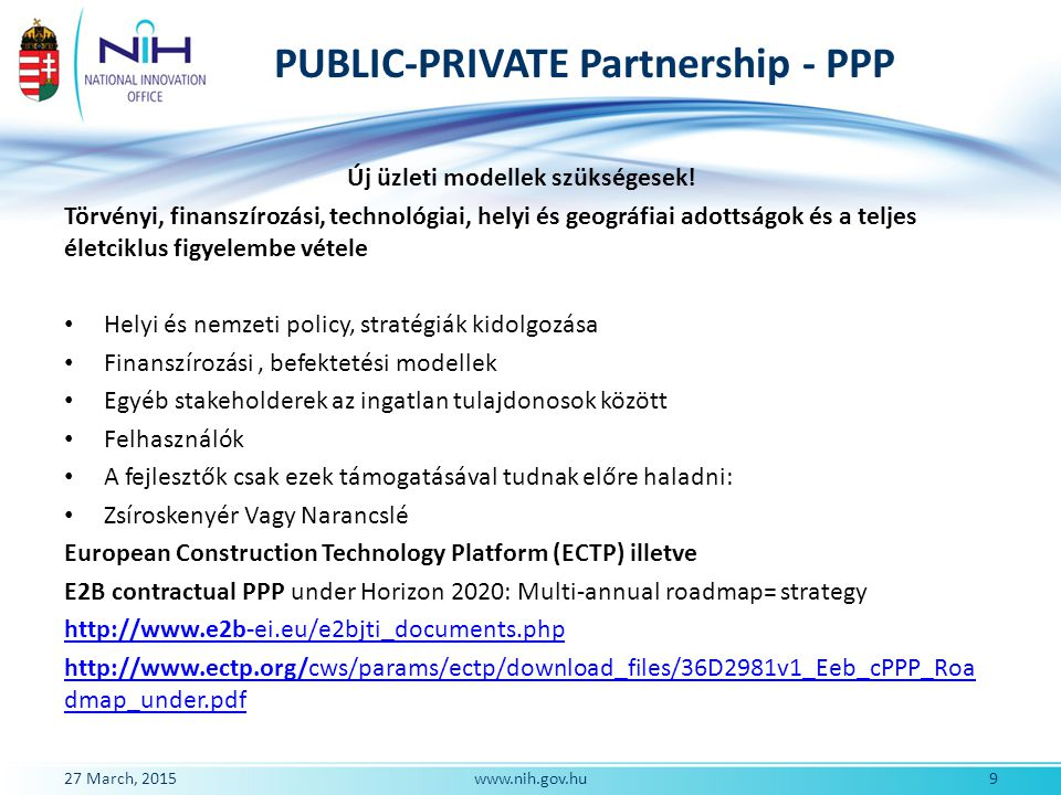 PUBLIC-PRIVATE Partnership - PPP