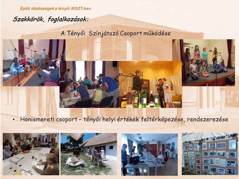 Szakkörök, foglalkozások: A Tényői Színjátszó Csoport működése