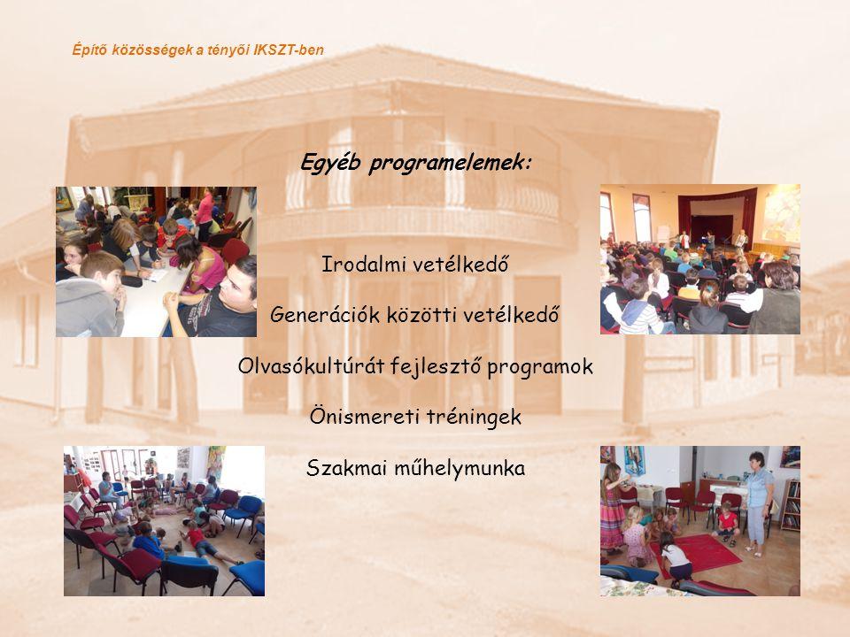 Generációk közötti vetélkedő Olvasókultúrát fejlesztő programok