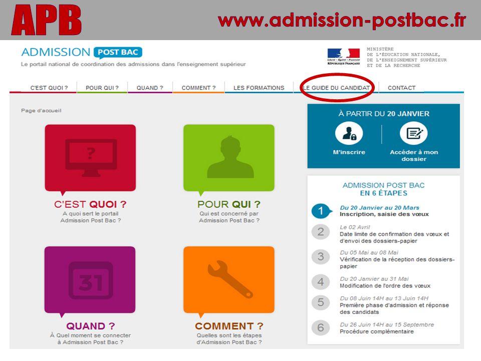 www.admission-postbac.fr APB 35