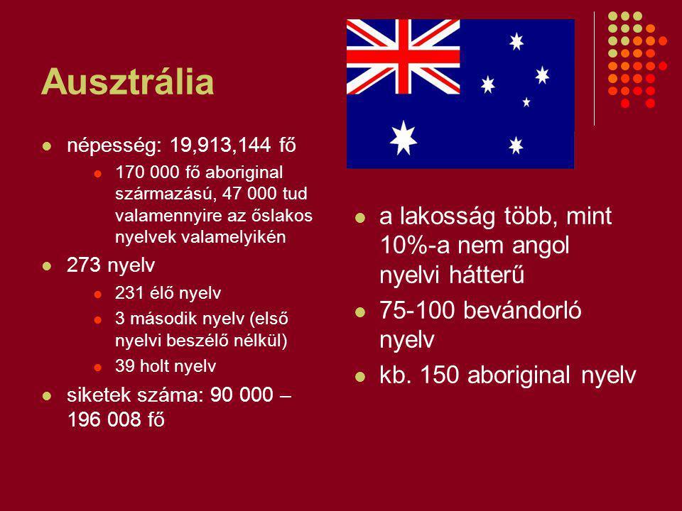 Ausztrália a lakosság több, mint 10%-a nem angol nyelvi hátterű