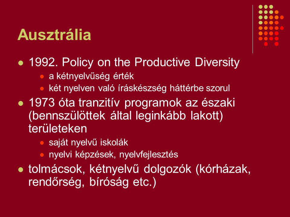 Ausztrália 1992. Policy on the Productive Diversity