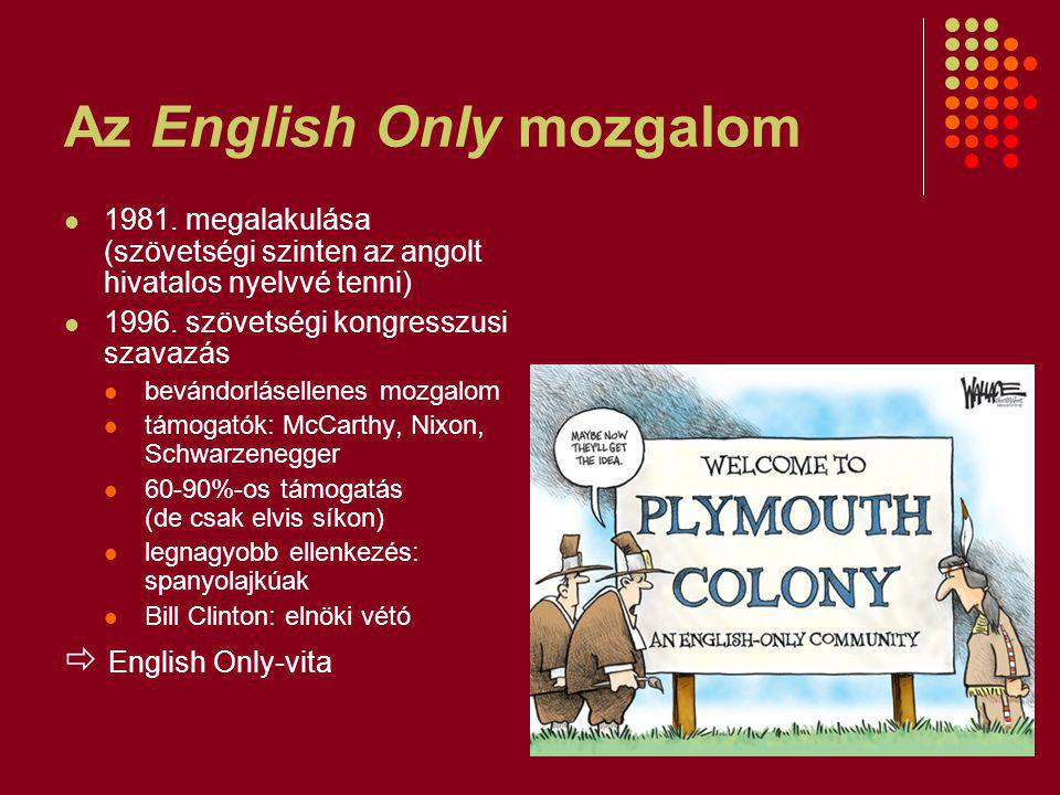 Az English Only mozgalom