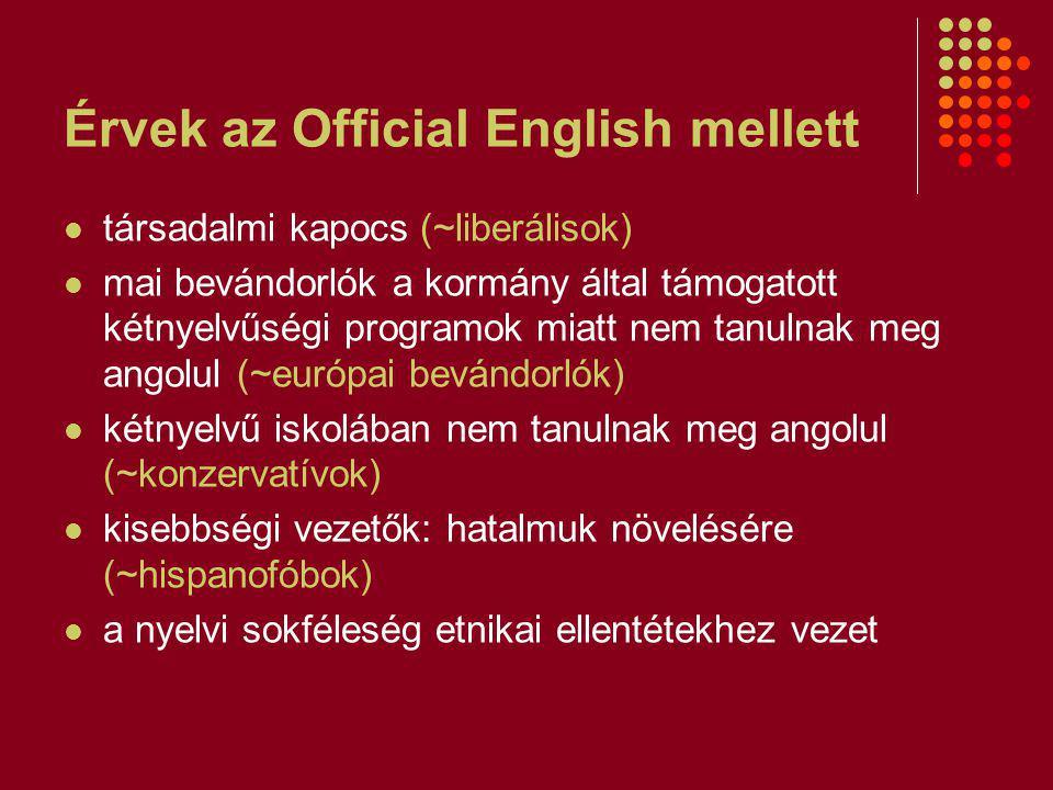 Érvek az Official English mellett
