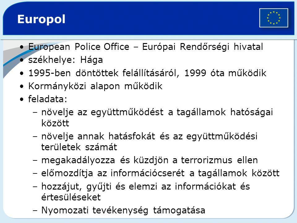 Europol European Police Office – Európai Rendőrségi hivatal