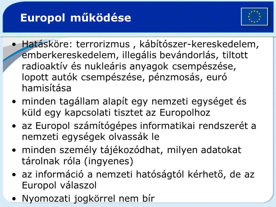 Europol működése