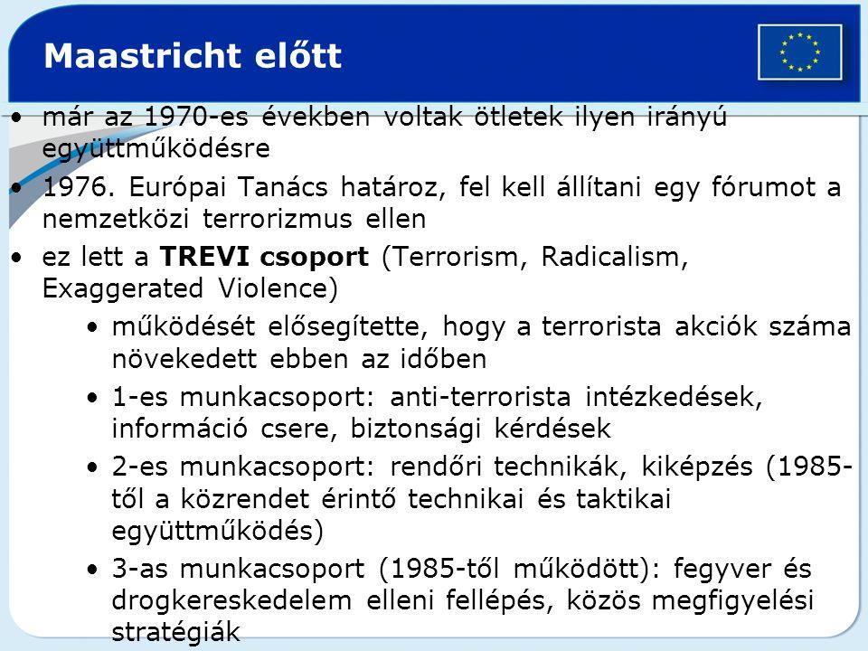 Maastricht előtt már az 1970-es években voltak ötletek ilyen irányú együttműködésre.