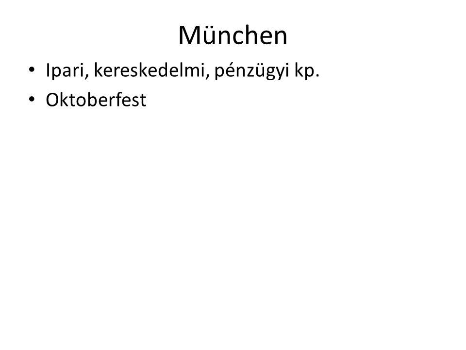 München Ipari, kereskedelmi, pénzügyi kp. Oktoberfest