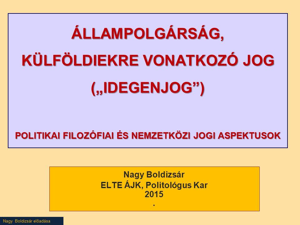 Nagy Boldizsár ELTE ÁJK, Politológus Kar 2015 .