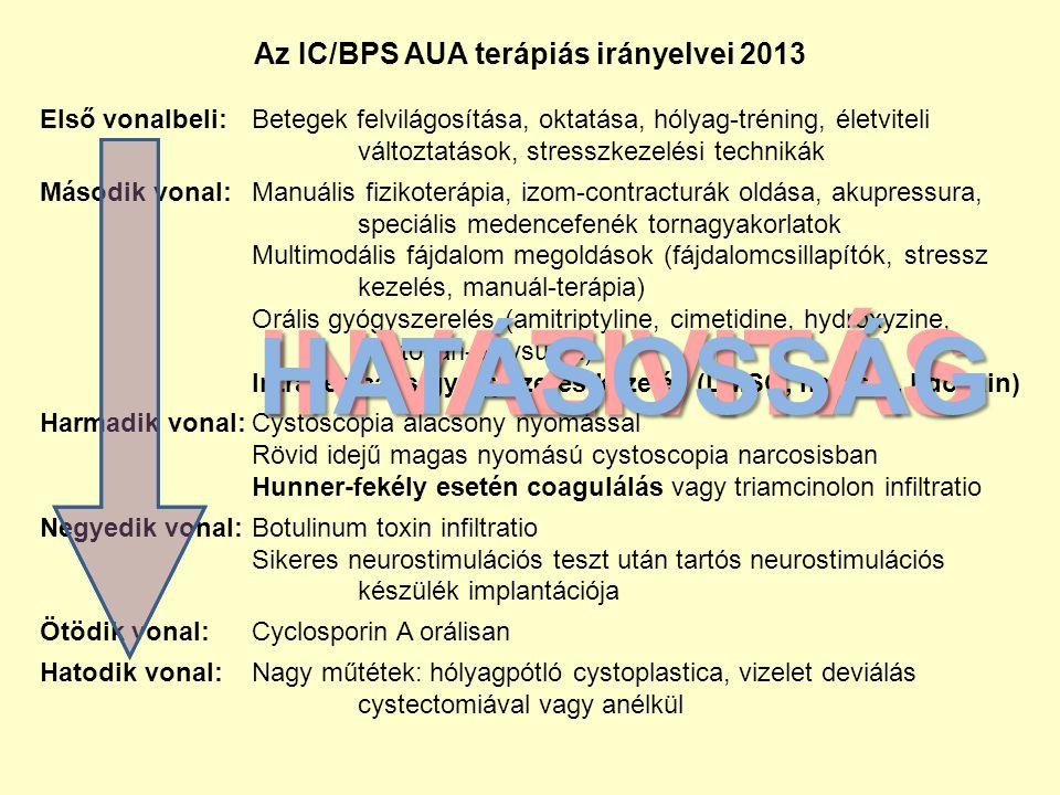 Az IC/BPS AUA terápiás irányelvei 2013